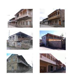 შენობები თელავში რესტავრაციამდე და მის შემდეგ